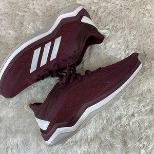 Adidas Burgundy Speed Trainer 4 Shoes Sz 9 Lk New